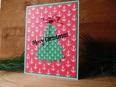 Nautical Themed Christmas Cards - christmas lights on anchor holiday card set of 10 by