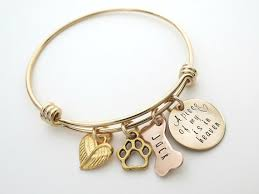 Custom Gold Bracelets Personalized Gold Bracelet Dog Memorial Jewelry Personalized