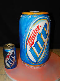 beer can cake miller lite beer can birthday cake cakecentral com