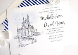 fairytale wedding invitations disney world cinderella s castle fairytale wedding invitation