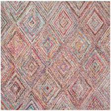 square 7 u0027 and larger cotton area rugs rugs the home depot