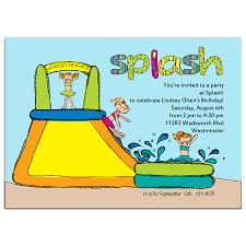 splash party invitations cimvitation