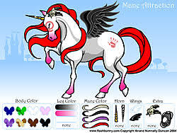 play mane attraction pony dress up game online y8 com