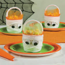 mini mummy baskets free n fun halloween from oriental trading