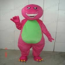 barney dinosaur size cartoon mascot costume fancy dress