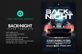 back to the night flyer template flyer templates creative market