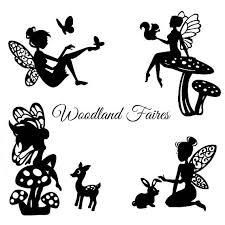 woodland die cut silhouette cutouts x 9 or 12