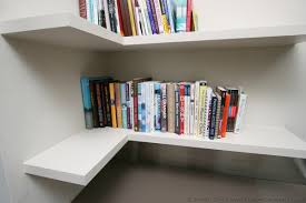 Narrow Corner Bookcase by Fitted Floating Shelves Empatika