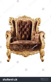 old vintage brown velvet classic armchair stock photo 301482995