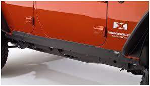 jeep islander 4 door jeep trail armor rocker panel u0026 sill plate pair oe matte black