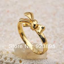 gold cute rings images 2018 2014 latest simple design 18k rose gold plated cute bowknot jpg