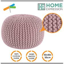 pouf ottoman footstool poof knitted gumball ball foot rest 20