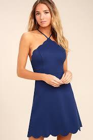 blue dress navy blue dress backless dress skater dress 54 00