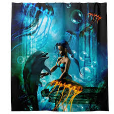 online get cheap little mermaid bathroom curtain aliexpress com