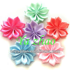 cheap hair accessories cheap handicraft flower ribbon multilayers kids hair accessories
