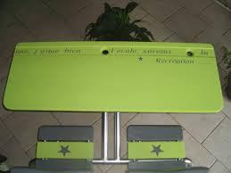 bureau écolier relooké table d écolier peinture ardoise la déco de gégé