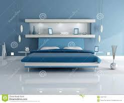 blaues schlafzimmer zeitgenössisches blaues schlafzimmer stock abbildung bild 8850900