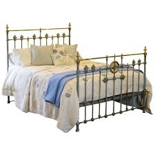 blue verdigris decorative brass and iron bed at 1stdibs