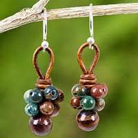 thailand earrings thailand jade flower dangle earrings thai tulip dangle earrings
