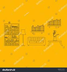 graphic concept home interior design furniture stock vector
