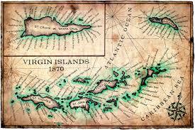 st croix caribbean map islands map print c 1780 11 x 17