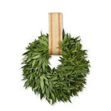 bay leaf wreath bay leaf wreath with burlap ribbon hanger williams sonoma