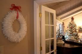 decorating ideas fantastic decorative round white feather wreath