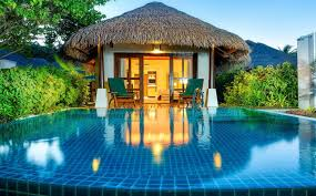 Maldives Cottages On Water by Cottage With Pool