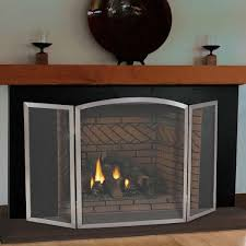 pilgrim 54 u0027 u0027 x 30 u0027 u0027 stainless steel newport tri panel fireplace