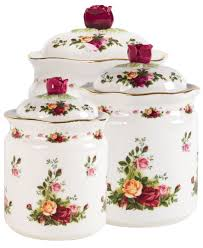 vintage kitchen canister set royal albert