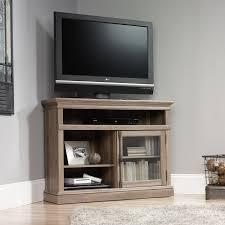 tall tv stands for bedroom sauder 42 in barrister lane corner tv stand salt oak hayneedle