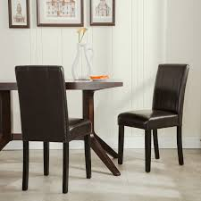 parson dining room chairs set of 2 elegant design furniture leather parsons dining room