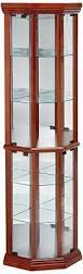 Corner Curio Cabinet Kit Amazon Com Coaster Solid Wood Glass Corner China Curio Cabinet