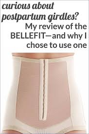 belly bandit sizing with postpartum girdles and my bellefit corset review