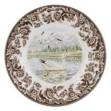 spode woodland snow goose salad plate spode usa