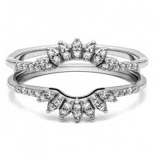 wedding ring jackets ring guards at twobirch classic ring guards cathedral style