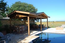 Gazebo Fire Pit by Outdoor Living Space With Gazebo Covered Kitchen And Fire Pit By