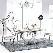 steel dining table set stainless steel dining set stainless steel dining table and chairs