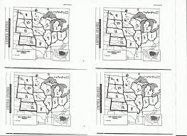 Midwest States And Capitals Map by Morrison Gordon Elementary