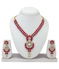 pink necklace set images Atasi international pink alloy necklace set buy atasi jpg