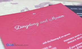 wedding invitations philippines look inside dingdong and marian s wedding invitation showbiz