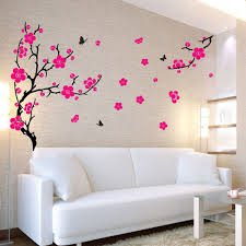 stylish rose wall sticker funky flower wall decor large plum blossom wall sticke