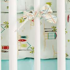 Surfer Crib Bedding Bring The Home With This Tiki Huts Surfboards And Sail