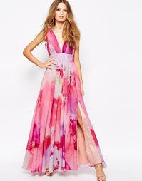 maxi dress for wedding what to wear to a may wedding pink watercolor watercolor print