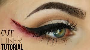 halloween eye makeup spider web cut liner makeup tutorial youtube