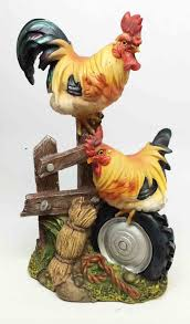 Rooster Home Decor Rooster And Hen Chicken Family Farm Home Decor Figurine 9
