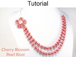 necklace making patterns images Beading tutorial pattern necklace pearl knot jewelry making 42879