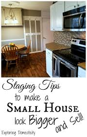 kitchen staging ideas staging tips to make a small house look bigger and sell