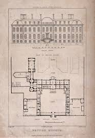 the british museum at montague house a layout plan and ele