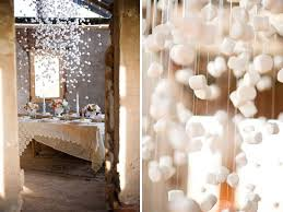 Winter Party Decorations - hanging marshmallows as table decor would this work or is this a
